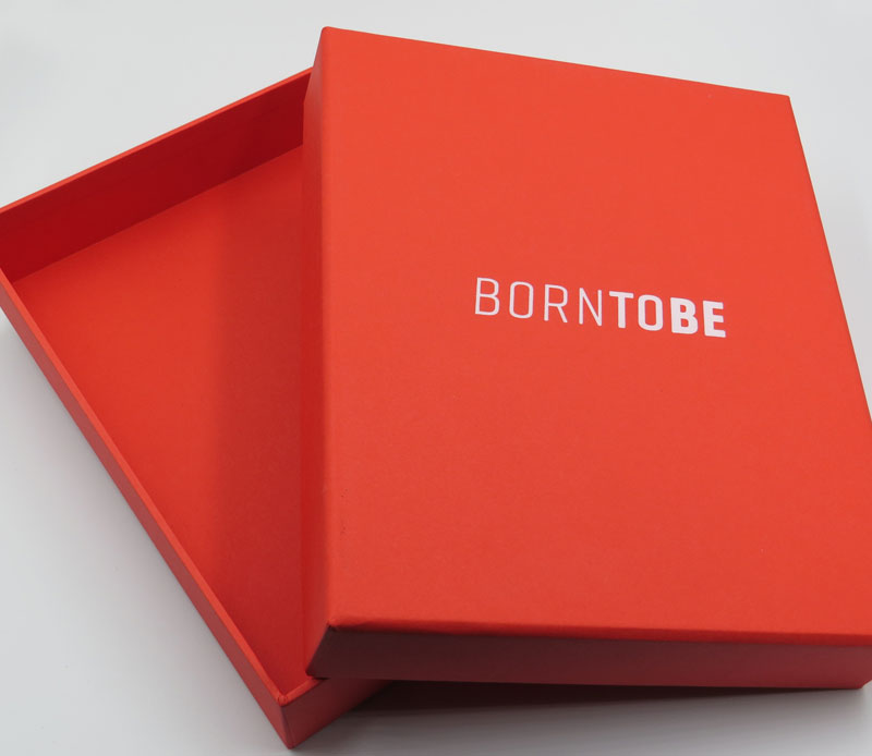 Red Born to Be Boxes with white foil