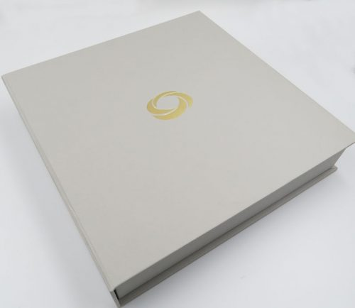 Clamshell Box with Gold Foil